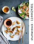 homemade chinese cuisine  ... | Shutterstock . vector #1144429301