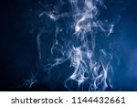 smoke on blackbackground | Shutterstock . vector #1144432661