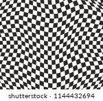 Checkered Pattern Wavy...