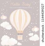beautiful baby shower card... | Shutterstock .eps vector #1144439327