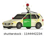 google street view car flat... | Shutterstock .eps vector #1144442234