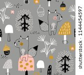 seamless childish pattern with... | Shutterstock .eps vector #1144454597