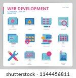 web development icon set | Shutterstock .eps vector #1144456811