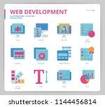 web development icon set | Shutterstock .eps vector #1144456814