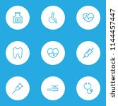 drug icons line style set with...   Shutterstock .eps vector #1144457447