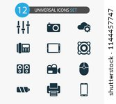 gadget icons set with...   Shutterstock .eps vector #1144457747