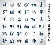 business strategy icons set. | Shutterstock .eps vector #1144458191