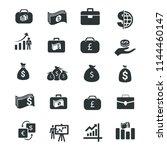finance   money icons | Shutterstock .eps vector #1144460147