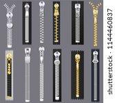 zipper vector zip slide... | Shutterstock .eps vector #1144460837