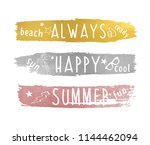 always happy summer and brush... | Shutterstock .eps vector #1144462094