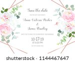 floral geometrical vector... | Shutterstock .eps vector #1144467647