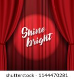 teather stage with red heavy...   Shutterstock .eps vector #1144470281