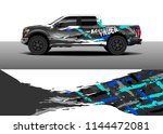 vehicle decal wrap design ... | Shutterstock .eps vector #1144472081