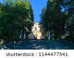 stairs leading to chiesa di san ... | Shutterstock . vector #1144477541