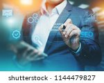 seo search engine optimization... | Shutterstock . vector #1144479827
