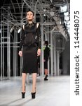 "BANGKOK, THAILAND - SEP 29 : Model walks the runway at "" Flynow "" collection presentation during Siam Paragon International Couture Fashion Week 2012 on September 29, 2012 in Bangkok Thailand. - stock photo"