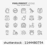 thin line icons set of beer.... | Shutterstock .eps vector #1144480754