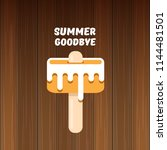 vector goodbye summer vector... | Shutterstock .eps vector #1144481501