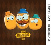vector friends tiny kids potato ... | Shutterstock .eps vector #1144481897