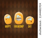 vector friends tiny kids potato ... | Shutterstock .eps vector #1144481924