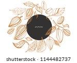 vector set of hand drawing of... | Shutterstock .eps vector #1144482737
