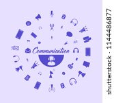 communication icons templates