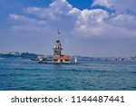 landscape of the maiden's tower.... | Shutterstock . vector #1144487441