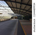 covered busway station and... | Shutterstock . vector #1144489934