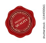 premium quality red wax seal... | Shutterstock .eps vector #114450061