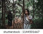 female victim at the gates of... | Shutterstock . vector #1144501667