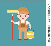 cute painter  professional... | Shutterstock .eps vector #1144505027
