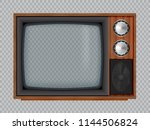 old wooden television.vector... | Shutterstock .eps vector #1144506824