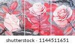 collection of designer oil... | Shutterstock . vector #1144511651