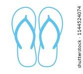 colorful flip flops. beach... | Shutterstock .eps vector #1144524074