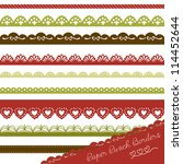 christmas set of hand drawn... | Shutterstock .eps vector #114452644