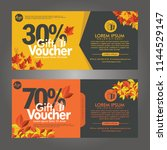 discount voucher template with... | Shutterstock .eps vector #1144529147
