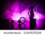 legal law concept. silhouette... | Shutterstock . vector #1144529204