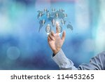 business hand selecting... | Shutterstock . vector #114453265
