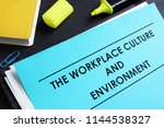 the workplace culture and...   Shutterstock . vector #1144538327