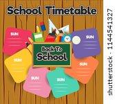 school timetable template | Shutterstock .eps vector #1144541327