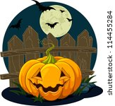 halloween pumpkin design | Shutterstock .eps vector #114455284