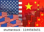 concept image of  usa china...   Shutterstock . vector #1144565651