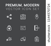 modern  simple vector icon set... | Shutterstock .eps vector #1144570724