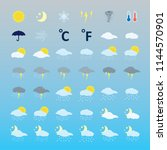 weather icons set. vector.  | Shutterstock .eps vector #1144570901
