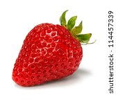 Strawberry Over White Background