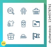 modern  simple vector icon set... | Shutterstock .eps vector #1144578761