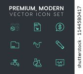 modern  simple vector icon set... | Shutterstock .eps vector #1144580417