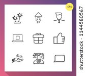 modern  simple vector icon set... | Shutterstock .eps vector #1144580567