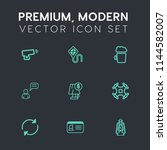 modern  simple vector icon set... | Shutterstock .eps vector #1144582007