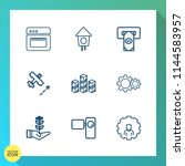 modern  simple vector icon set... | Shutterstock .eps vector #1144583957